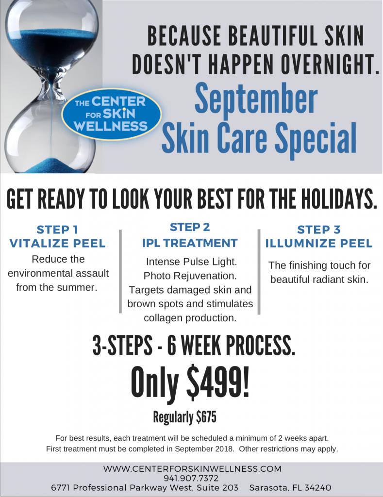 september skin care special