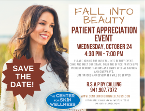fall into beauty appreciation event