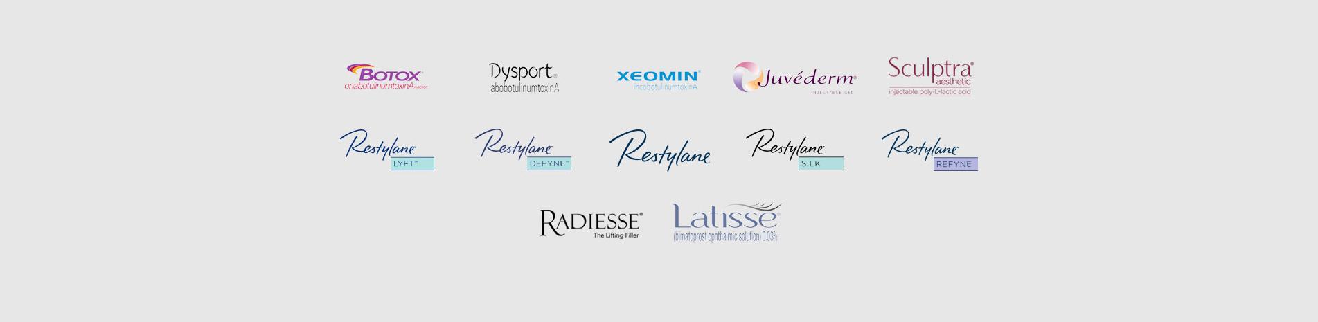 Cosmetic Dermatology brand logos